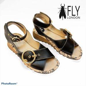 ❤️ RARE! Fly London Tram Ankle Strap Sandal